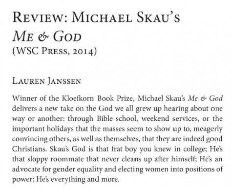 Me & God reviewed by Lauren Janssen in Paddlefish.
