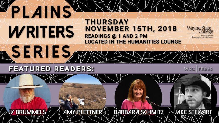 Plains Writers Series - Nov. 15th, 2018