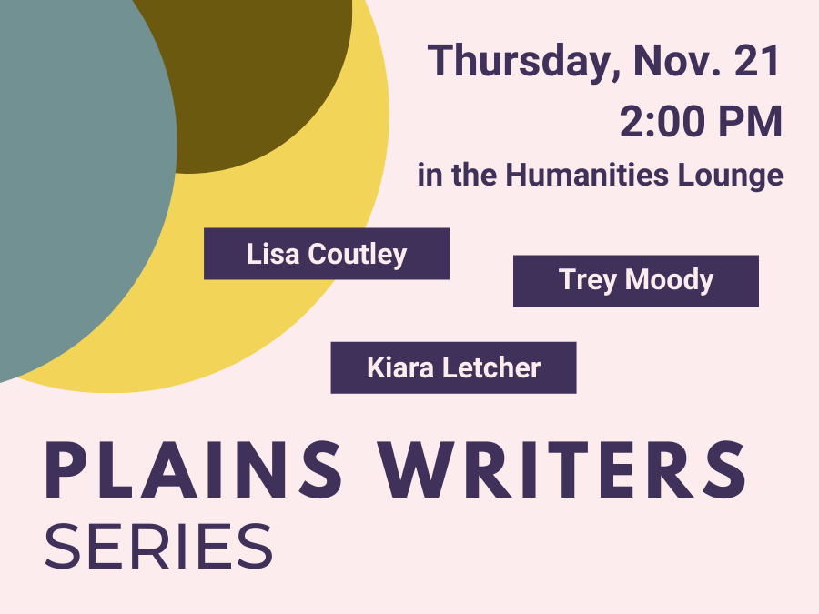 Plains Writers Series – November 21, 2019
